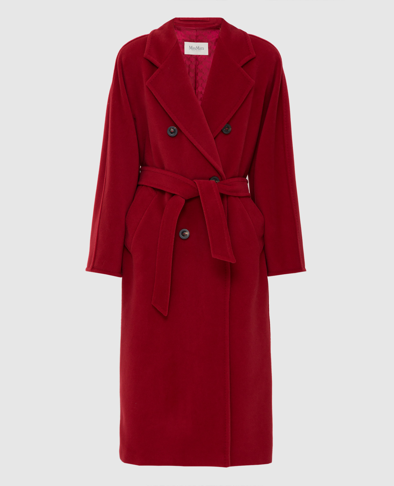 Темно-красное пальто из шерсти и кашемира