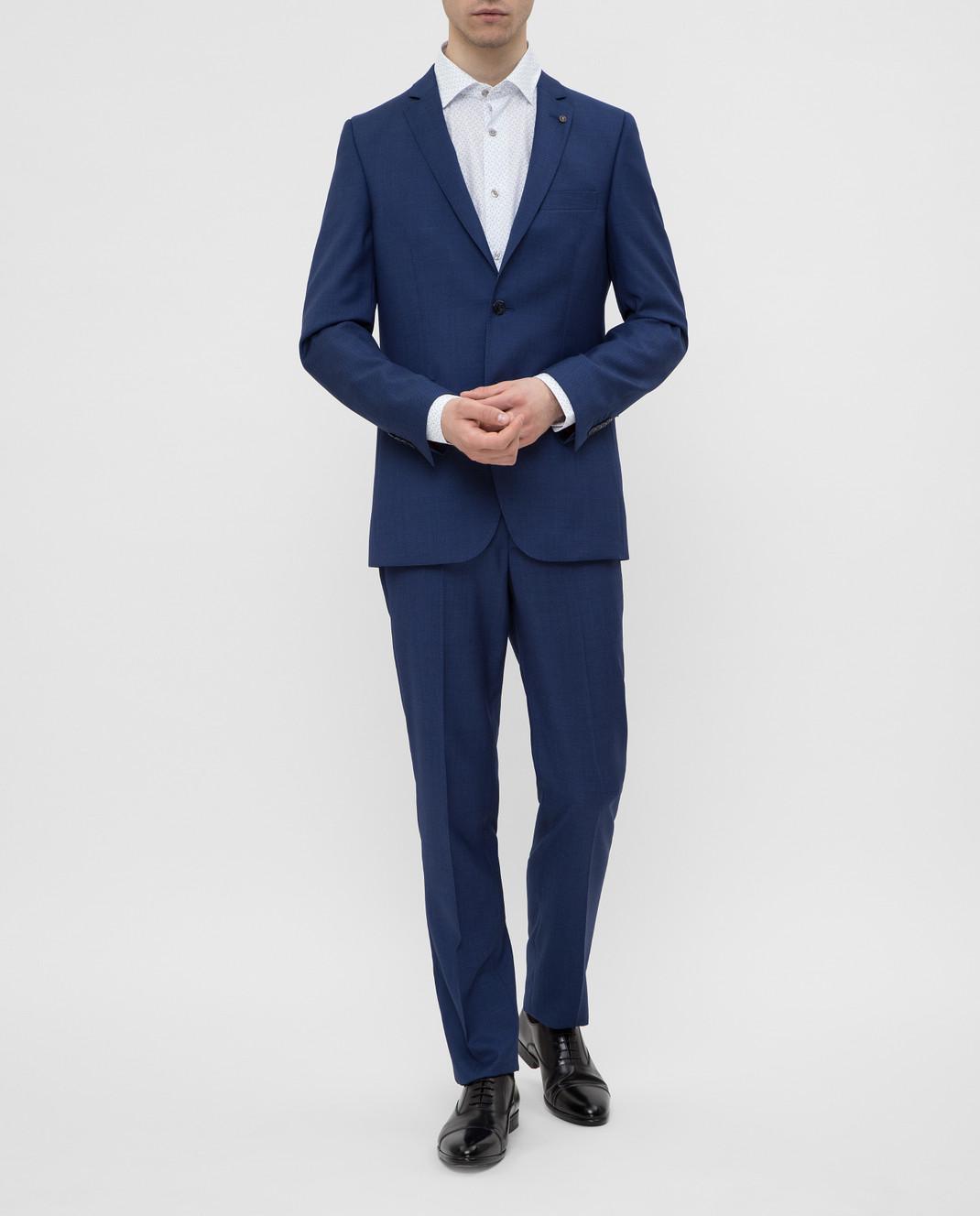 Florentino Синий костюм из шерсти изображение 2