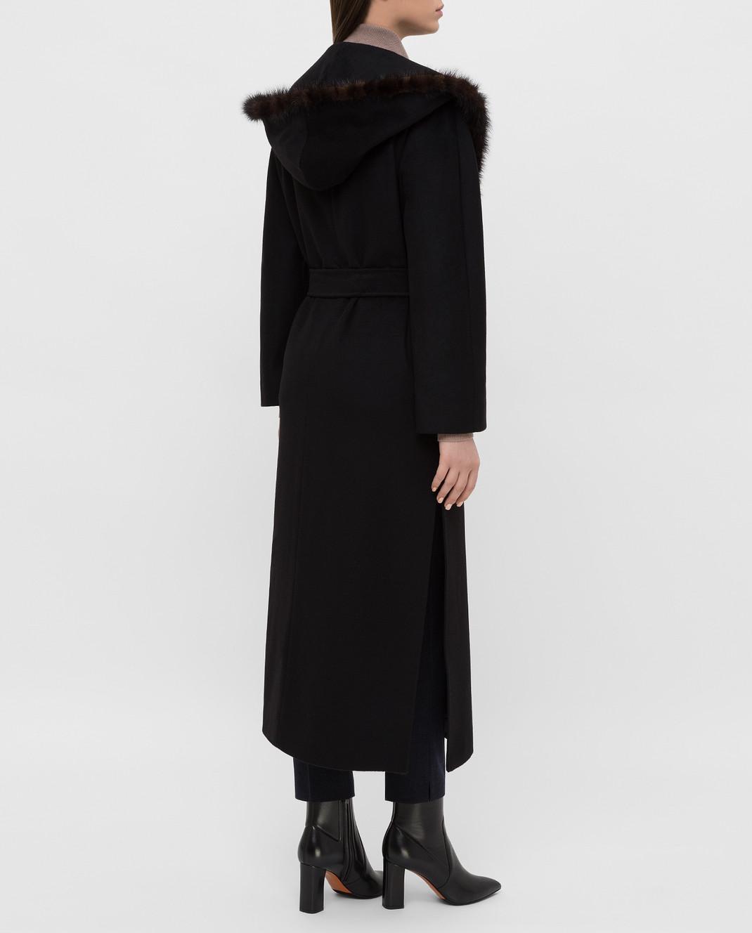 Heresis Черное пальто M33130VIA50 изображение 4