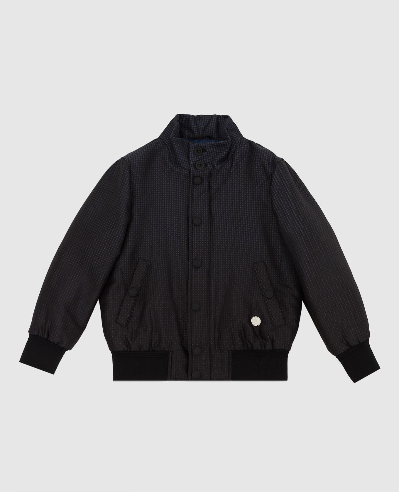 Детская шелковая куртка в узор Stefano Ricci