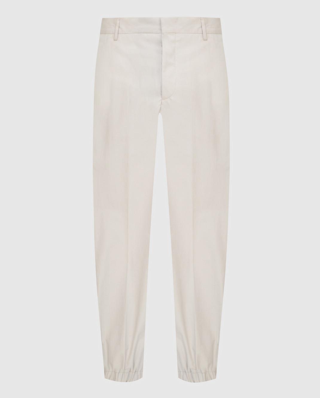 Prada Sport Светло-бежевые брюки SPF66