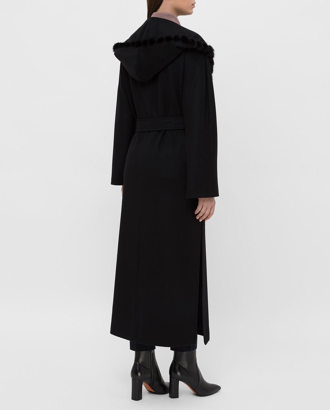 Heresis Черное пальто из шерсти M33130VIF260 изображение 4