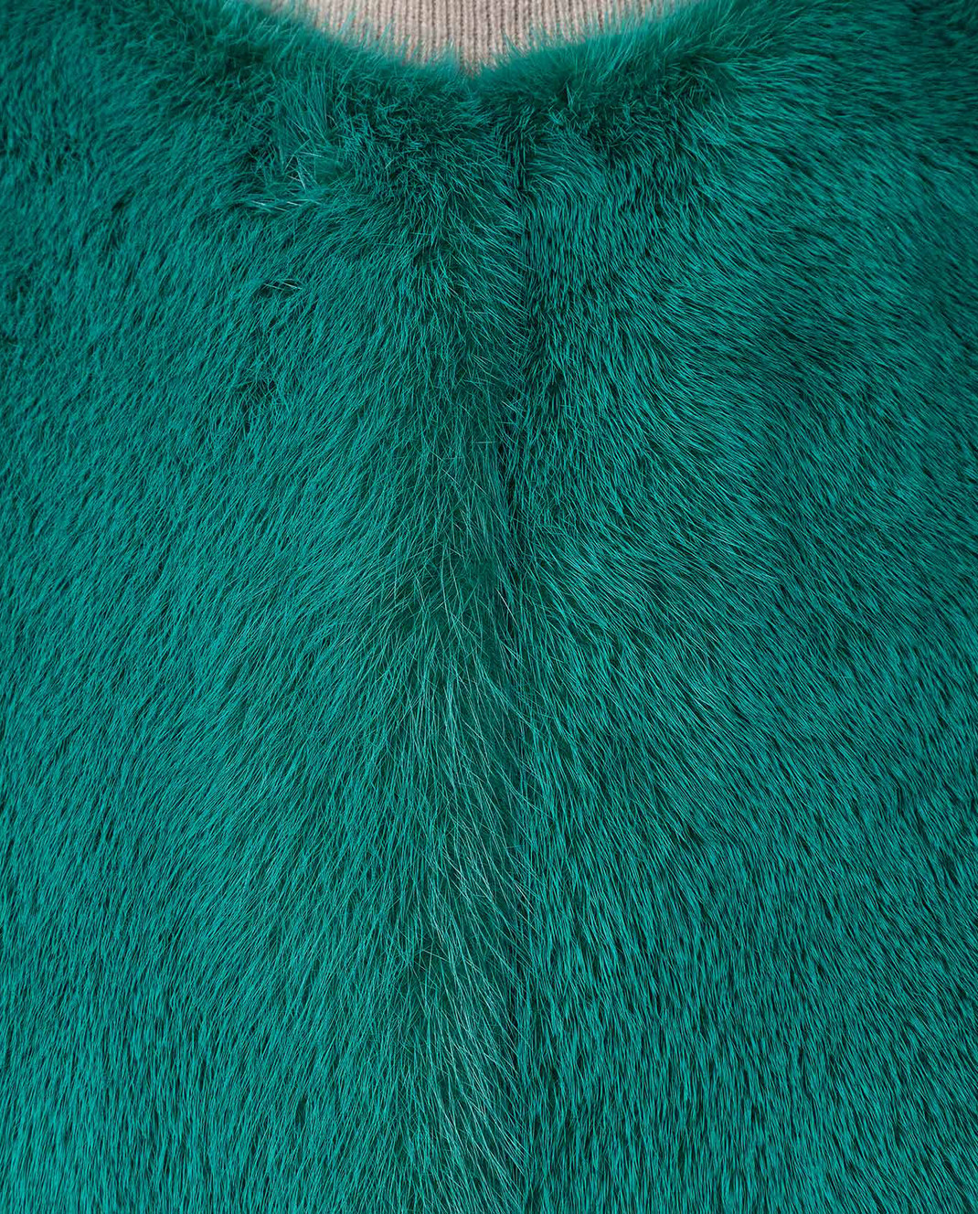 Fabio Gavazzi Зеленая шуба из меха норки 9VI000F18FG92PIVR изображение 5