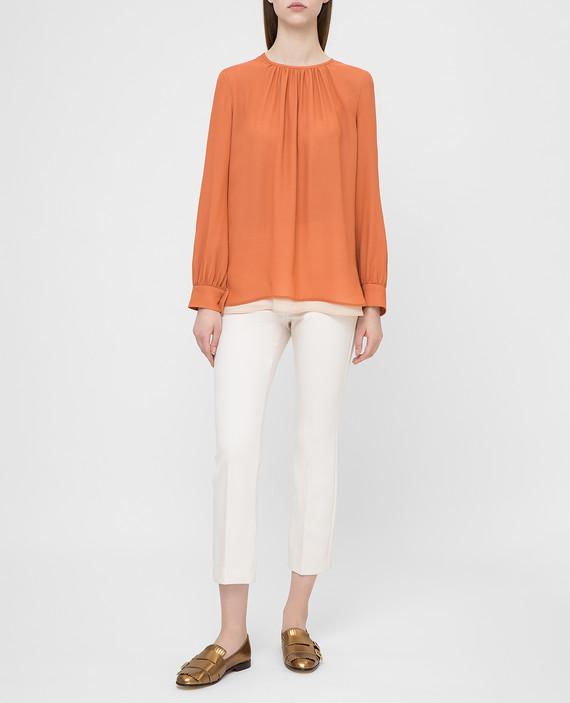 Оранжевая блуза из шелка hover