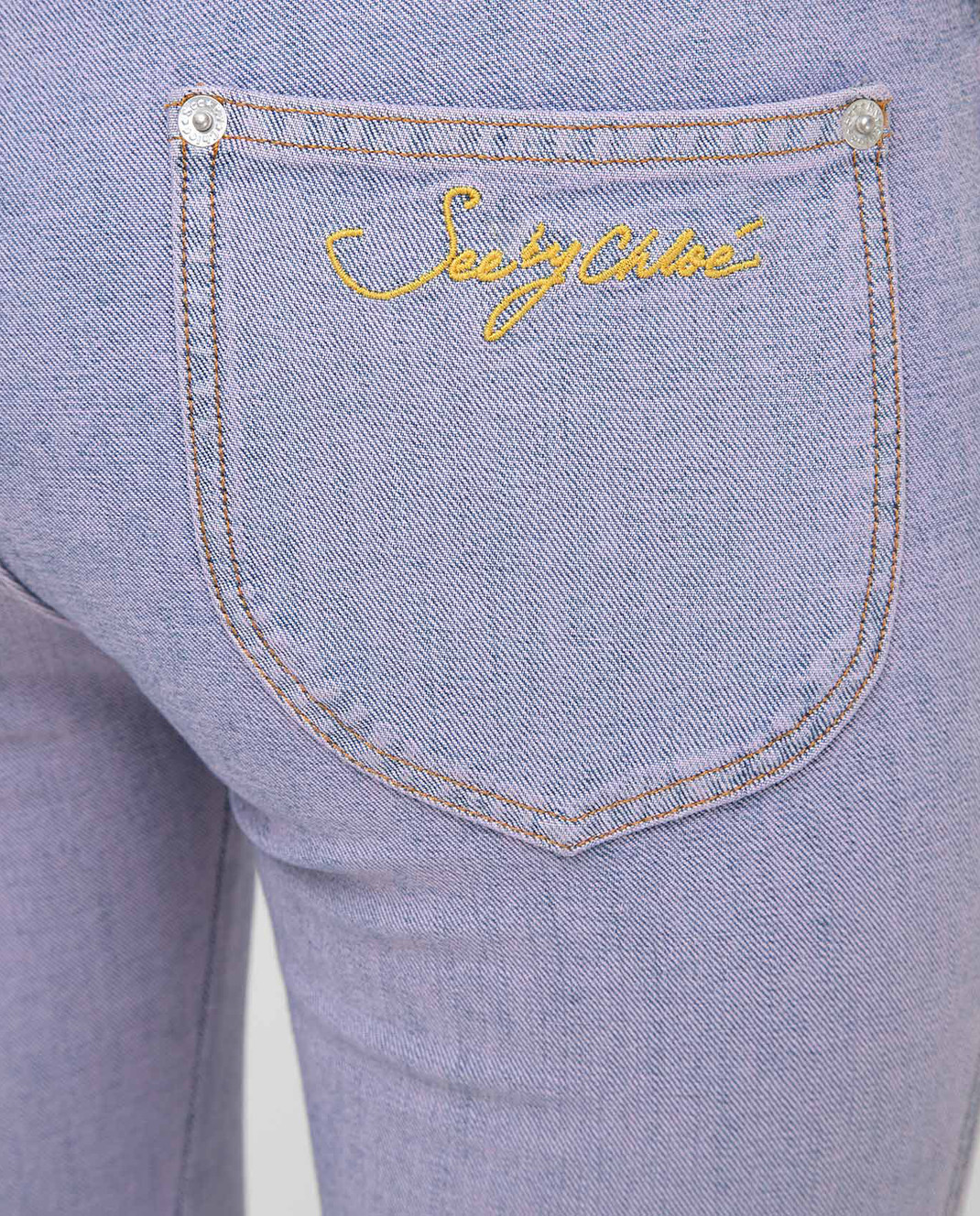 See by Chloe Сиреневые джинсы S7EDP12 изображение 5