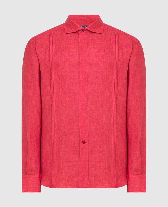 Красная рубашка из льна