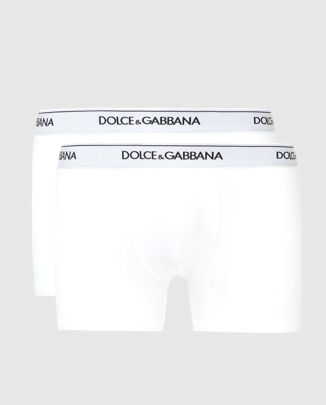 Dolce&Gabbana Набор белых трусов изображение 1