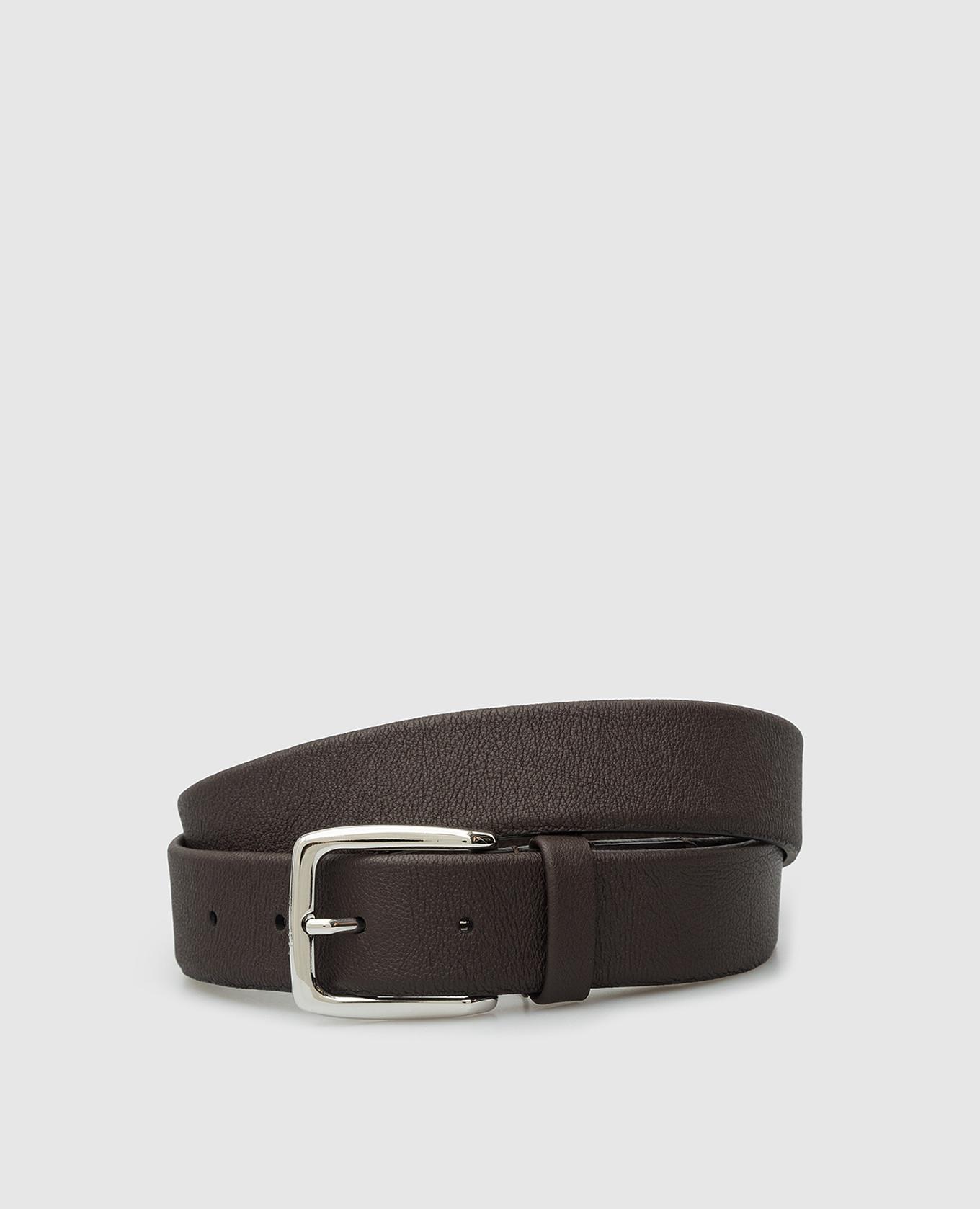 Темно-коричневый кожаный ремень Tivoli MooRER
