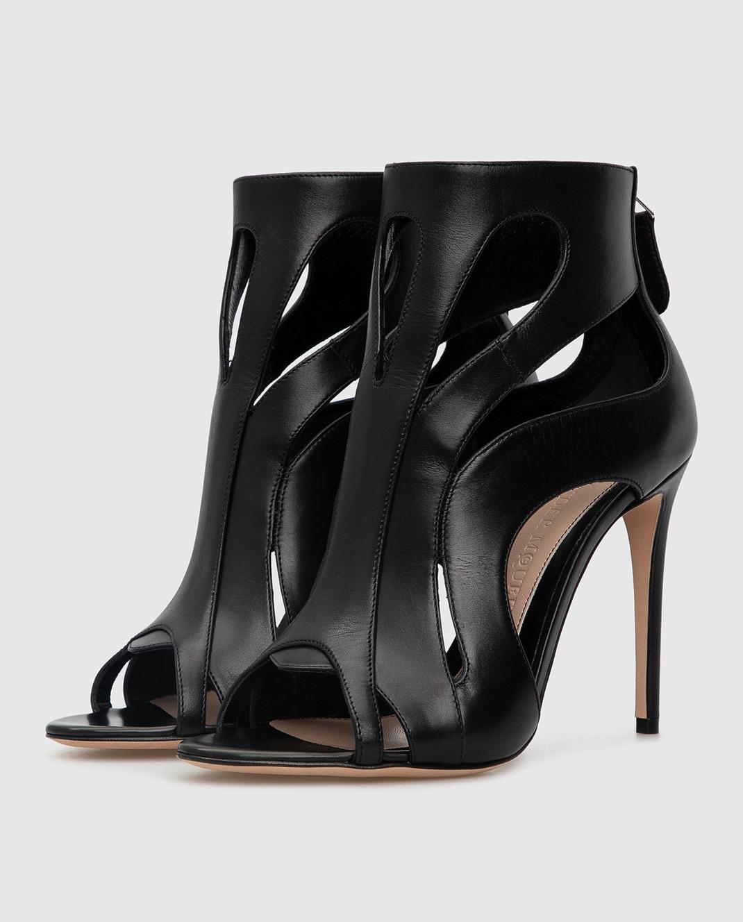 Alexander McQueen Черные кожаные ботильоны изображение 3