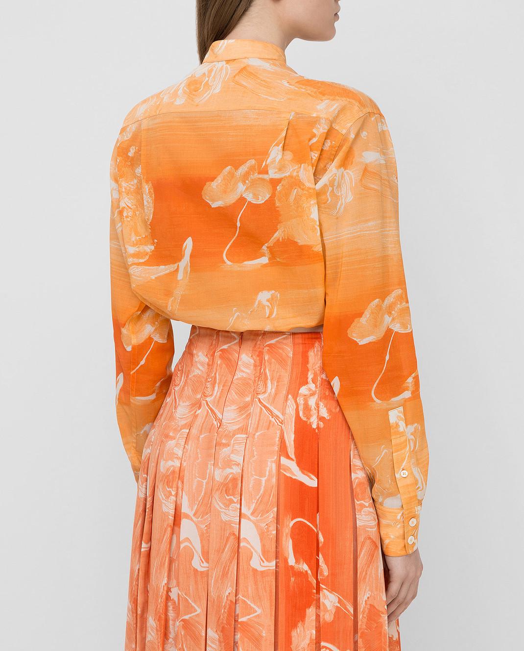 Victoria Beckham Оранжевая рубашка SHLNG1354E изображение 4