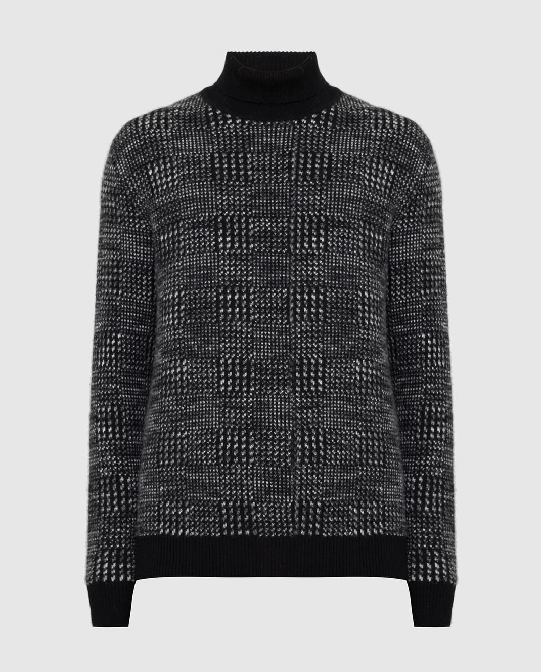 Ermenegildo Zegna Черный свитер из кашемира и шелка URH85120