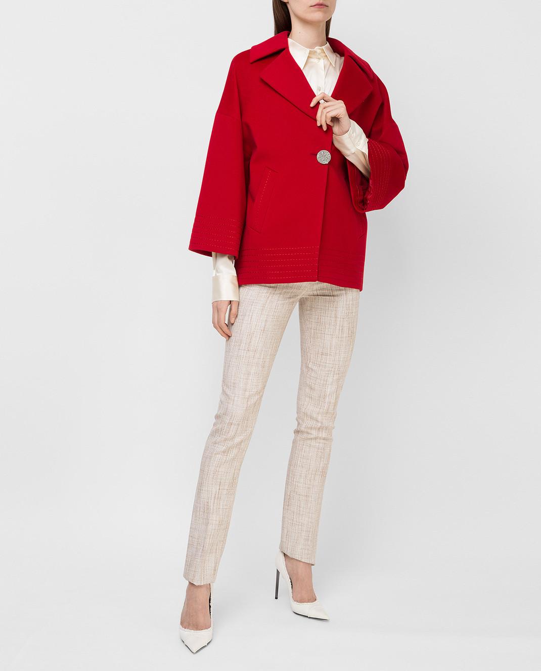 Heresis Красное пальто из шерсти K5270 изображение 2