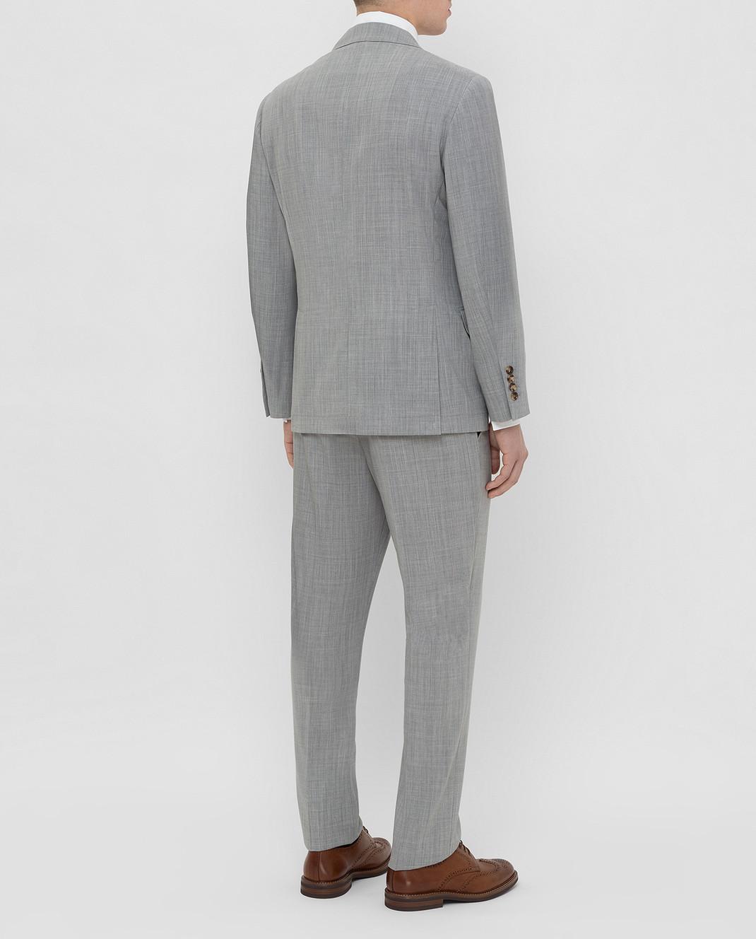 Brunello Cucinelli Серый костюм из шерсти MD4107BT7 изображение 4