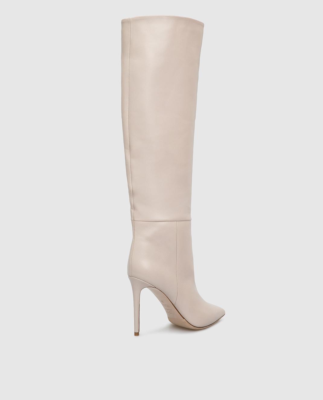 Babe Pay Pls Светло-бежевые кожаные сапоги изображение 4