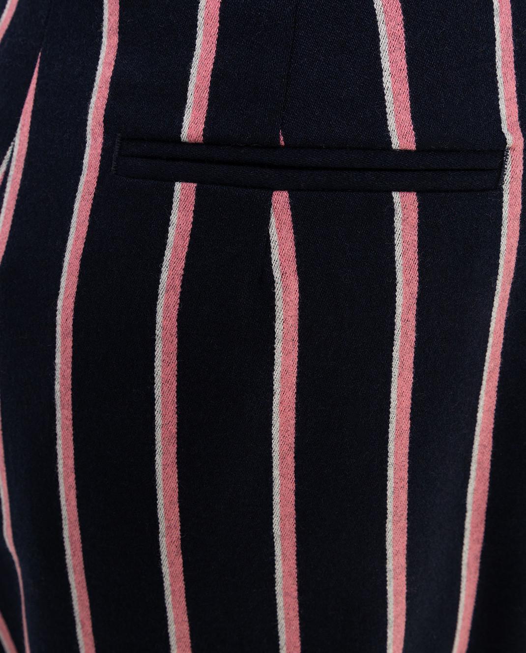 Max Mara Темно-синяя юбка из шерсти PINNE изображение 5