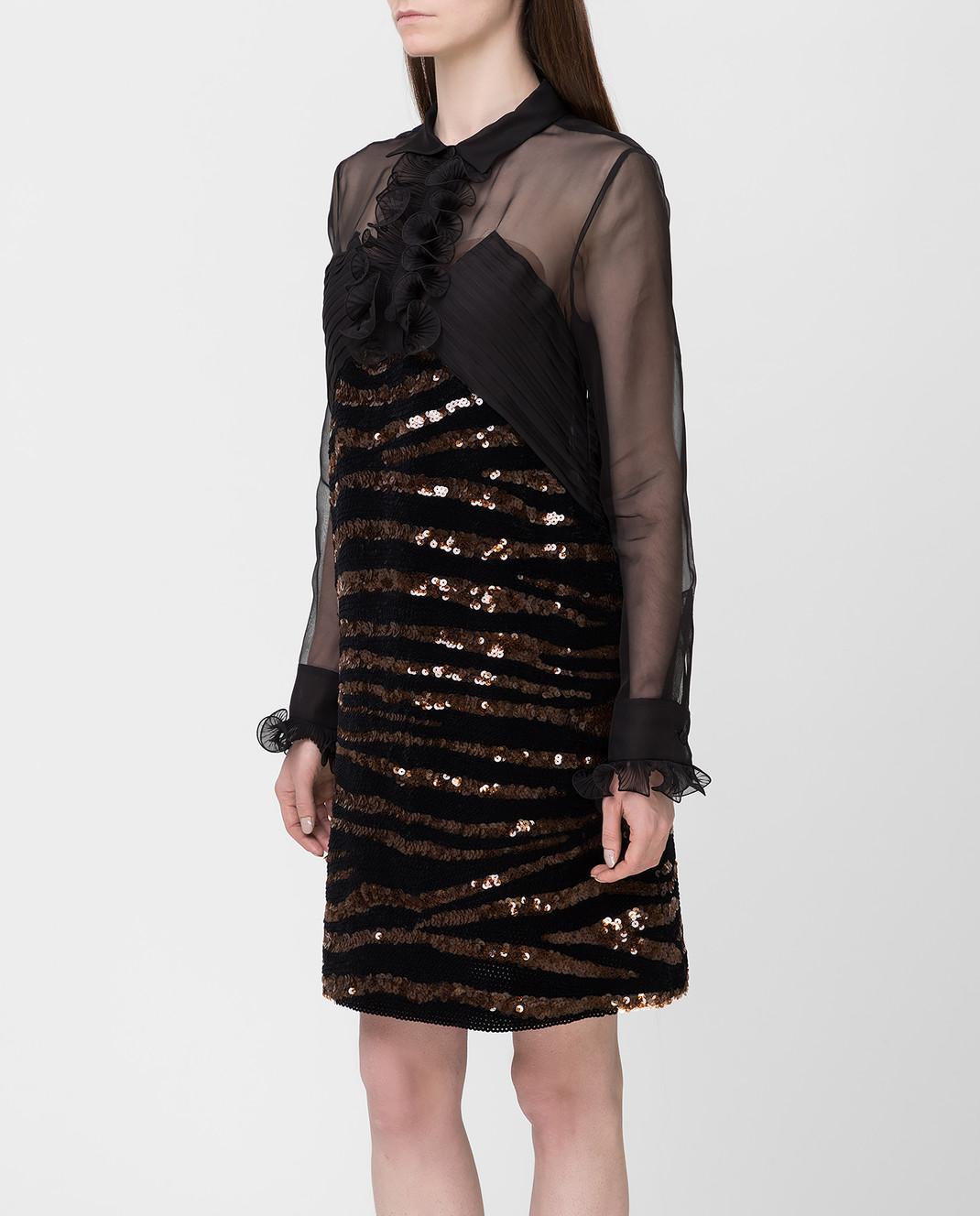 Bottega Veneta Черное платье из шелка изображение 3