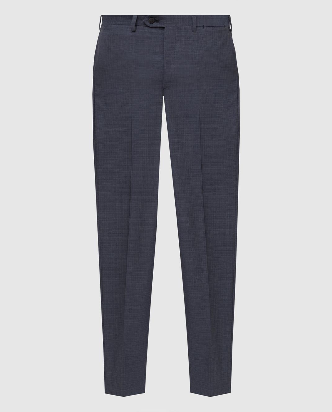Brioni Темно-серые брюки из шерсти RPL80PP7AW7