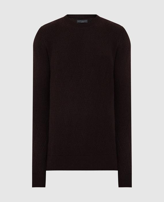 Темно-коричневый свитер из кашемира