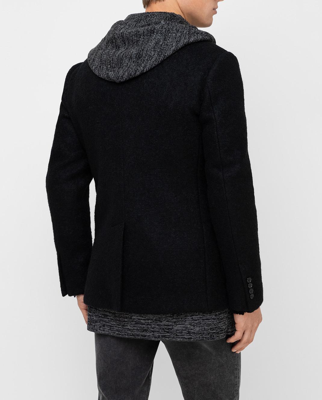 Dolce&Gabbana Черное пальто из шерсти изображение 4