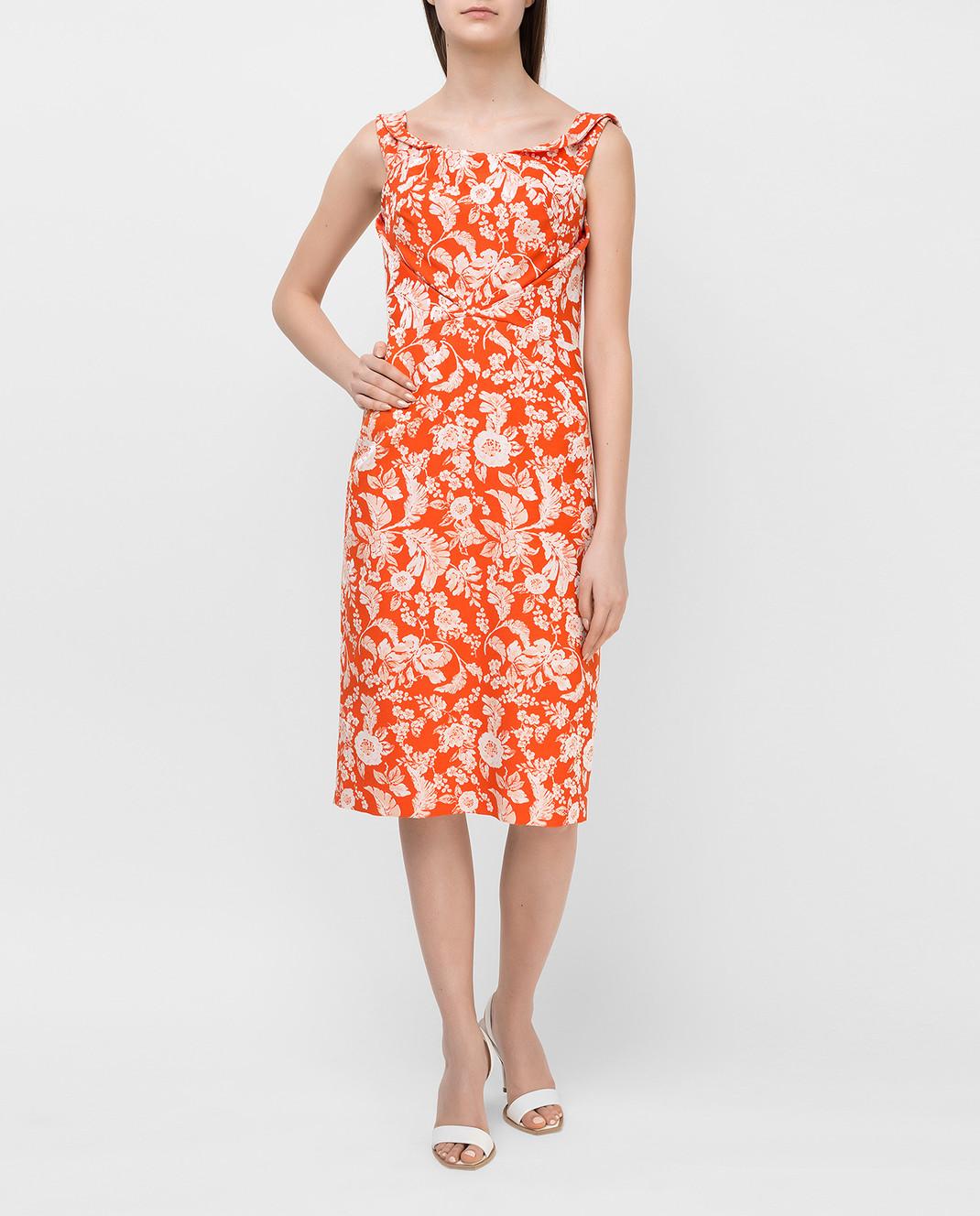 Zac Posen Оранжевое платье 23547753 изображение 2