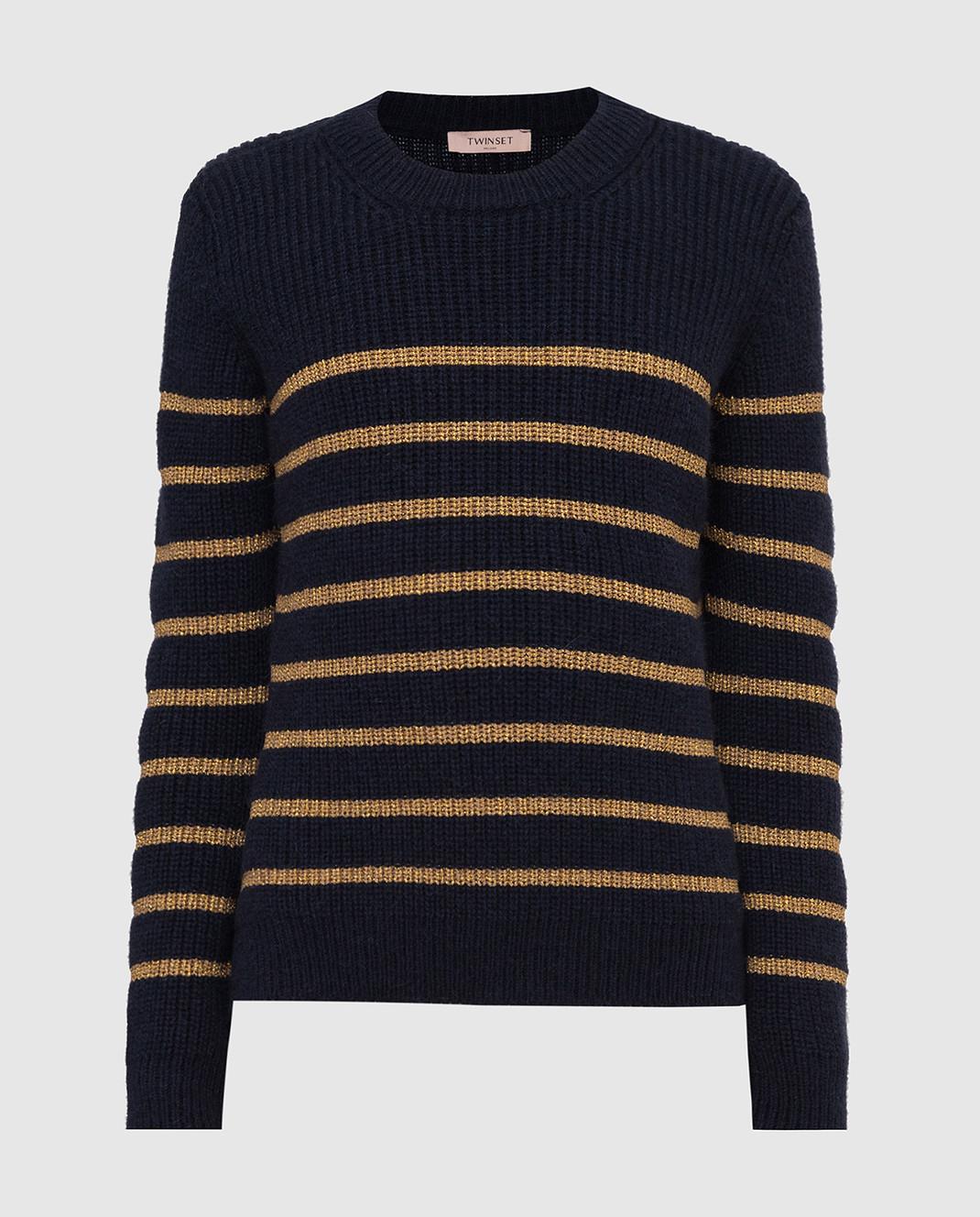 Twin Set Темно-синий свитер изображение 1