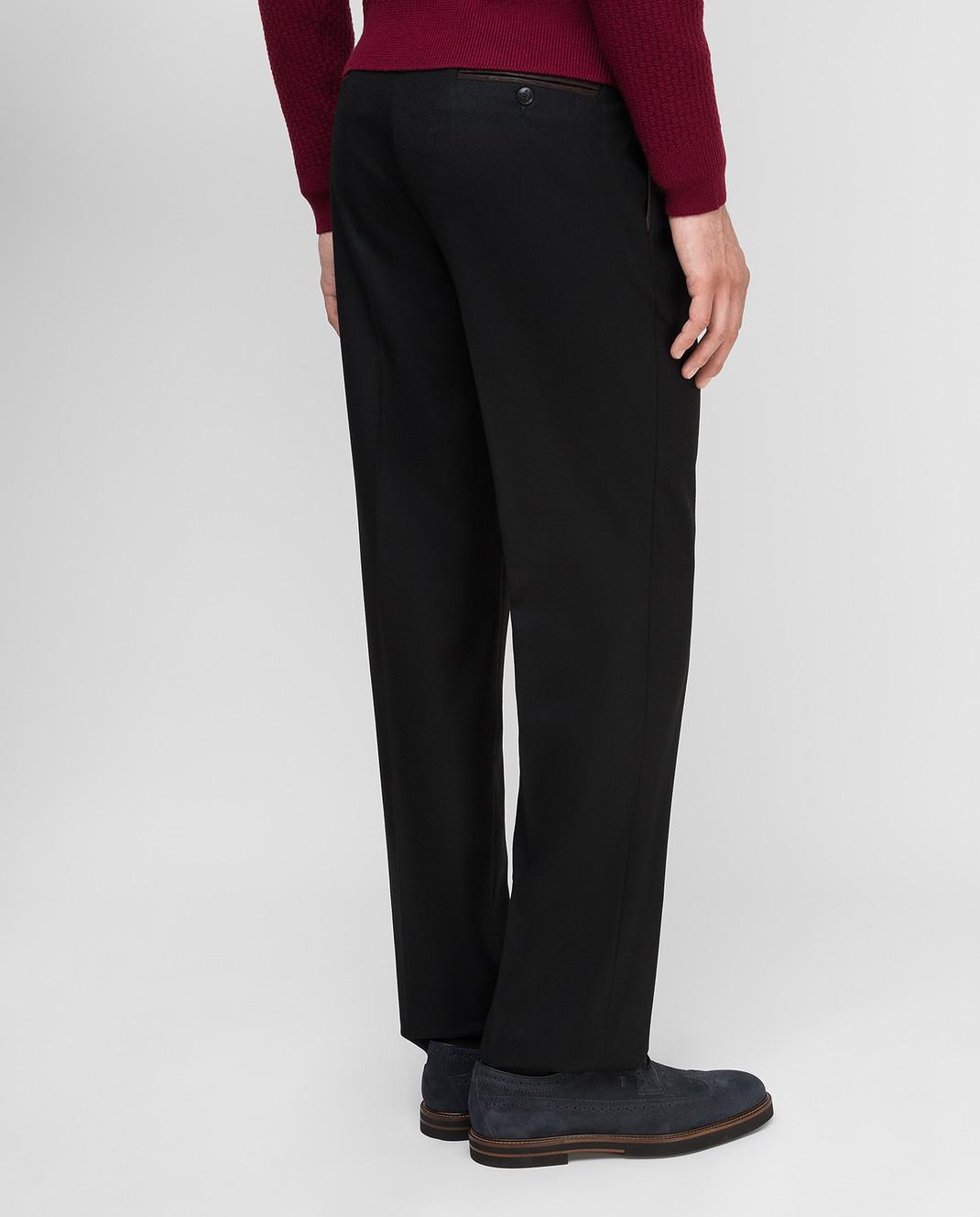 Castello d'Oro Черные брюки из шерсти изображение 4