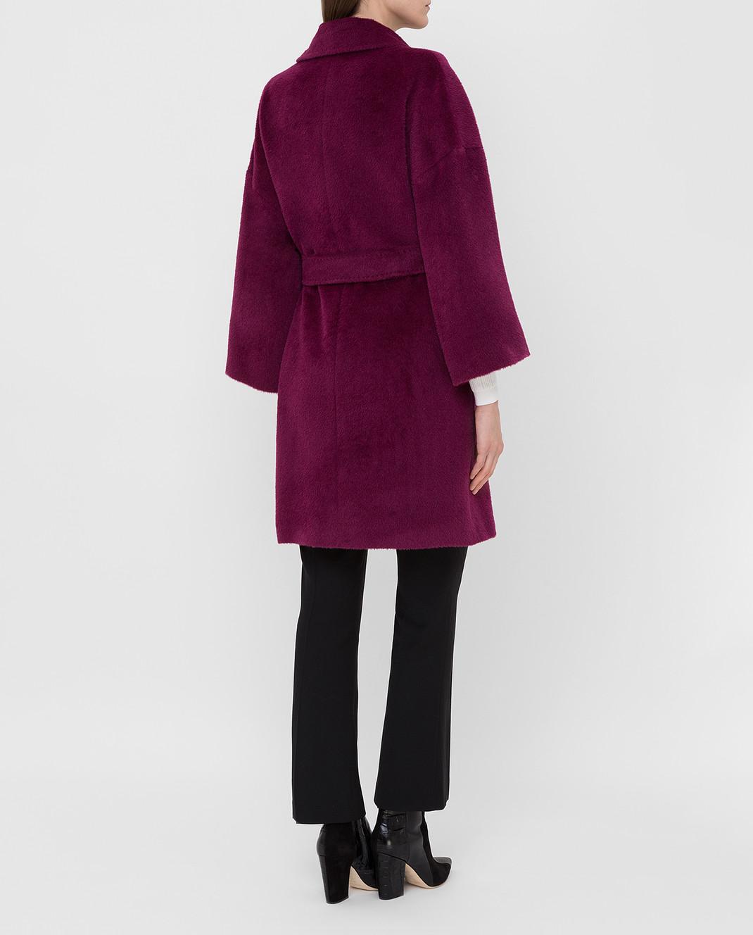 Heresis Светло-фиолетовое пальто из ламы и шерсти K8095 изображение 4