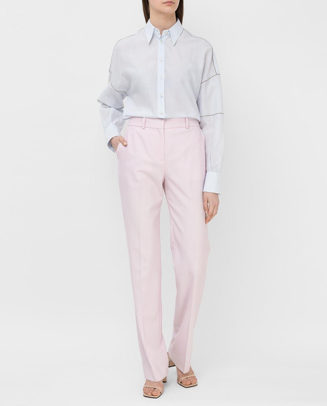 Victoria by Victoria Beckham Розовые брюки TRVV097 изображение 2