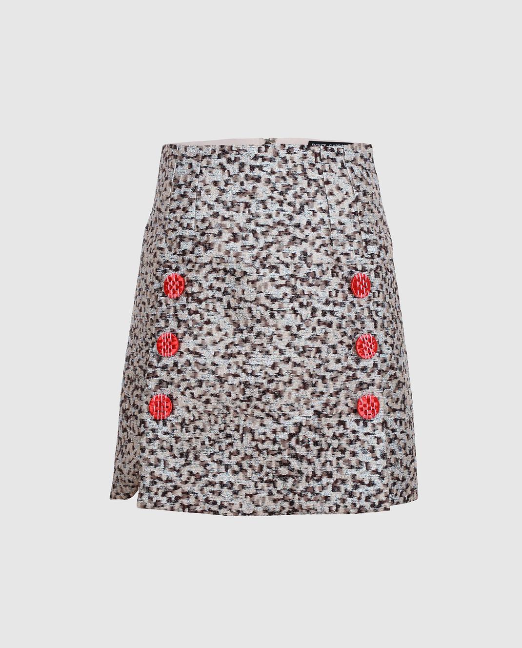 Dolce&Gabbana Серая юбка изображение 1