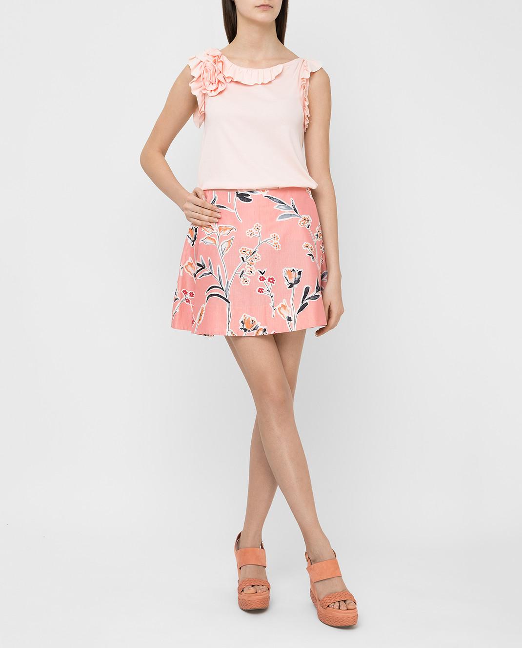 Marni Розовая юбка GOMAR35A00TCR58 изображение 2