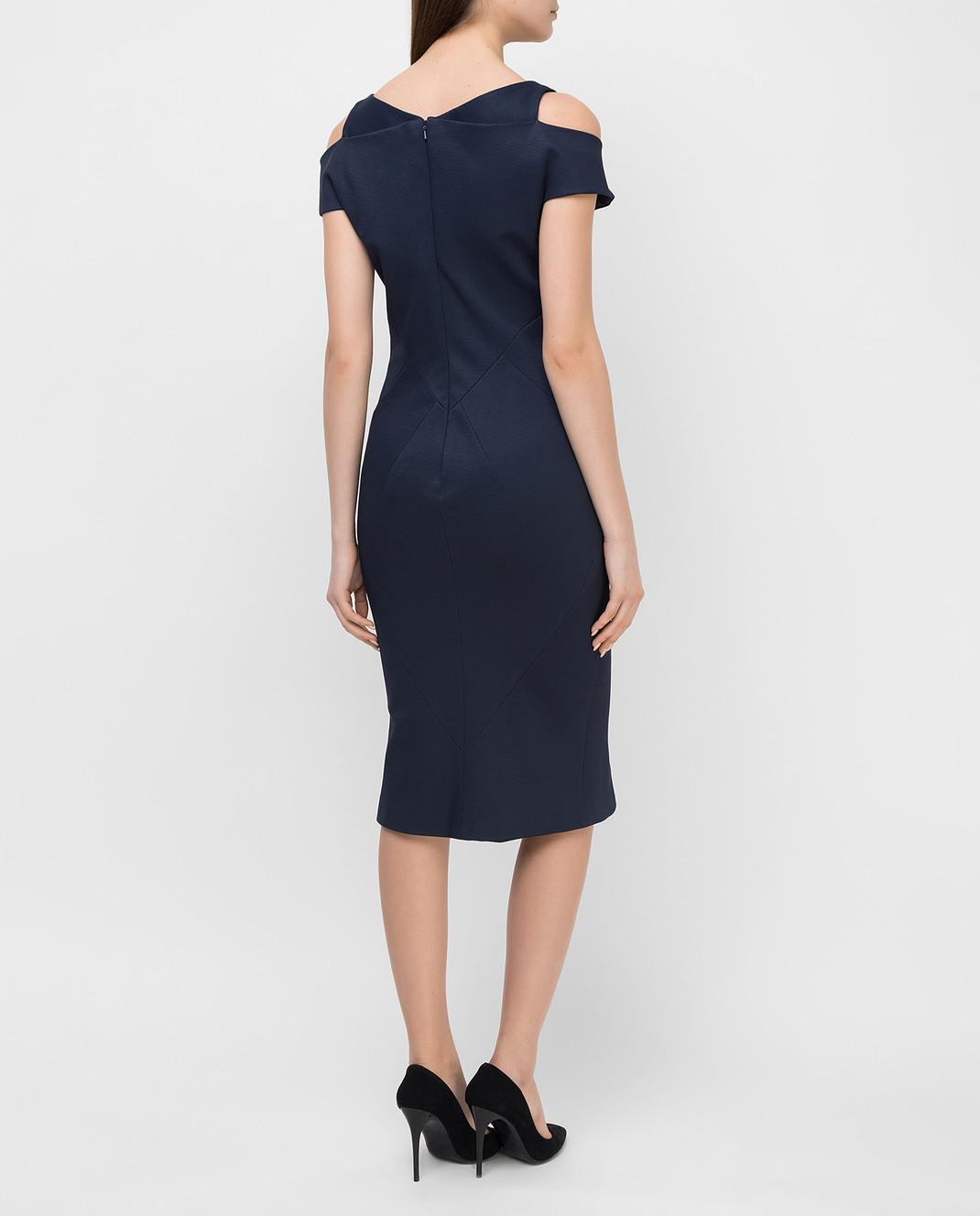 Zac Posen Темно-синее платье 40548253 изображение 4