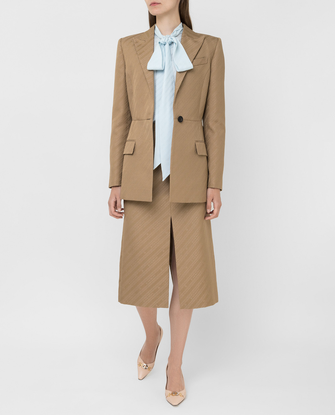 Givenchy Бежевая юбка изображение 2