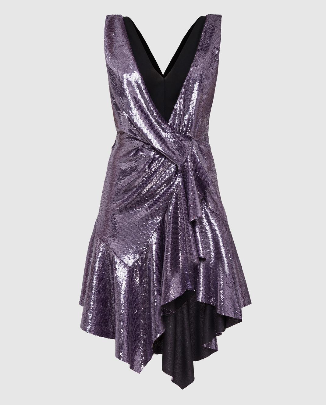 Philosophy di Lorenzo Serafini Фиолетовое платье в пайетках изображение 1