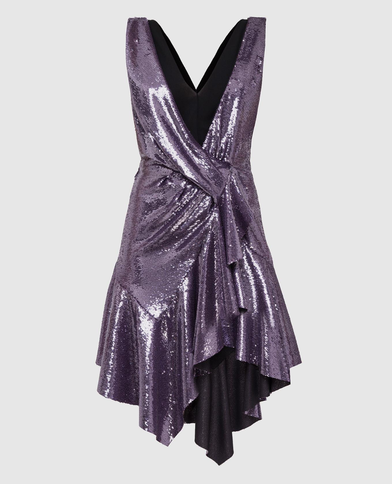 Фиолетовое платье в пайетках