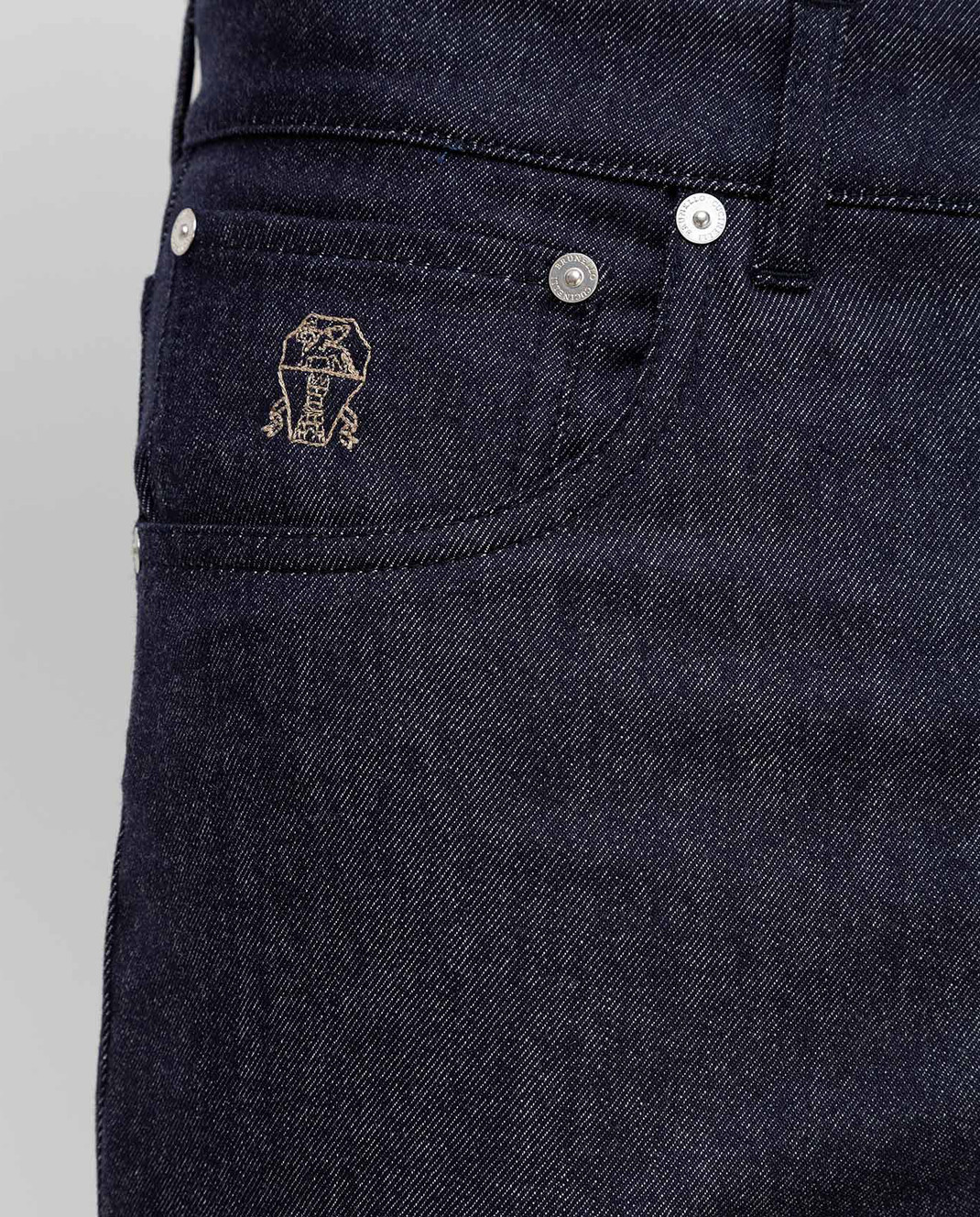 Brunello Cucinelli Темно-синие брюки из шерсти изображение 5