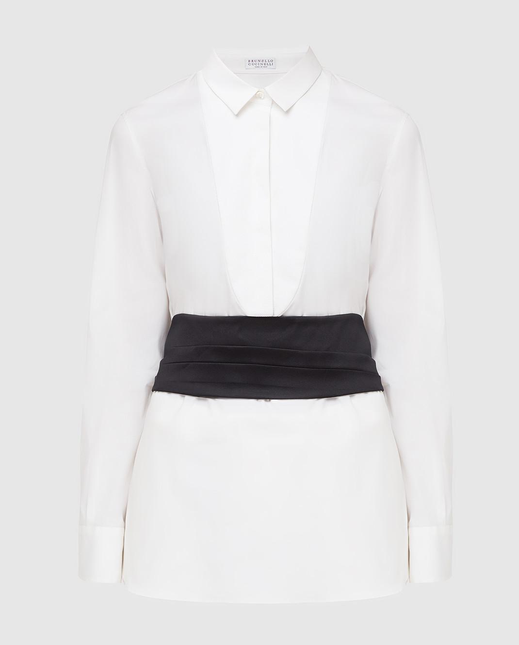 Brunello Cucinelli Белая рубашка M0091M6215
