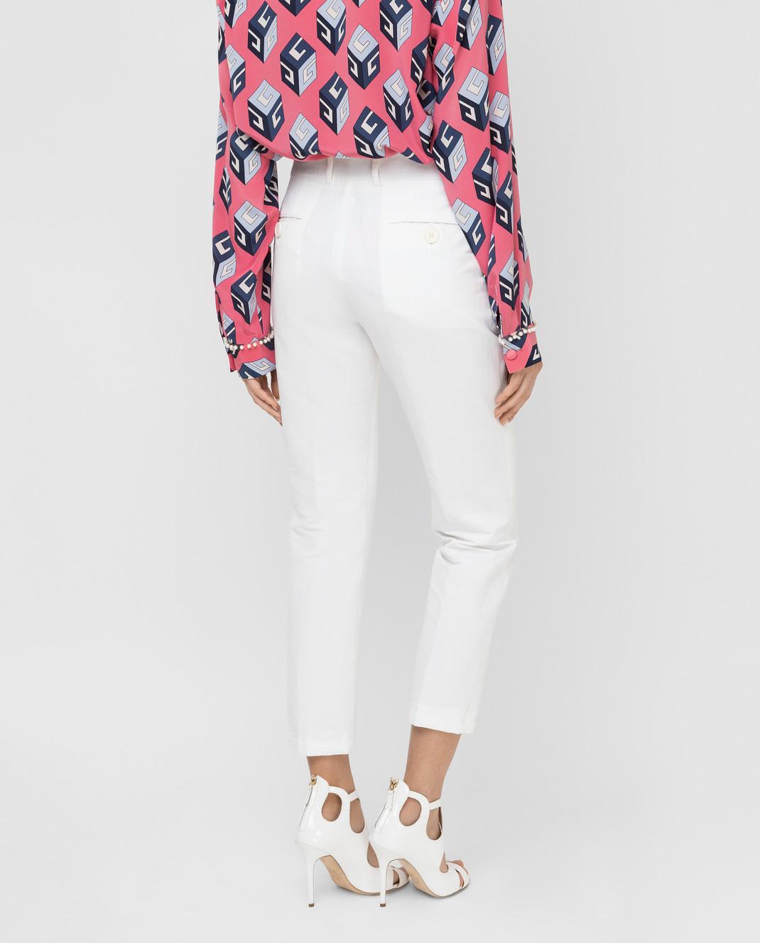 Marni Белые брюки PAMAR09MU1TL234 изображение 4