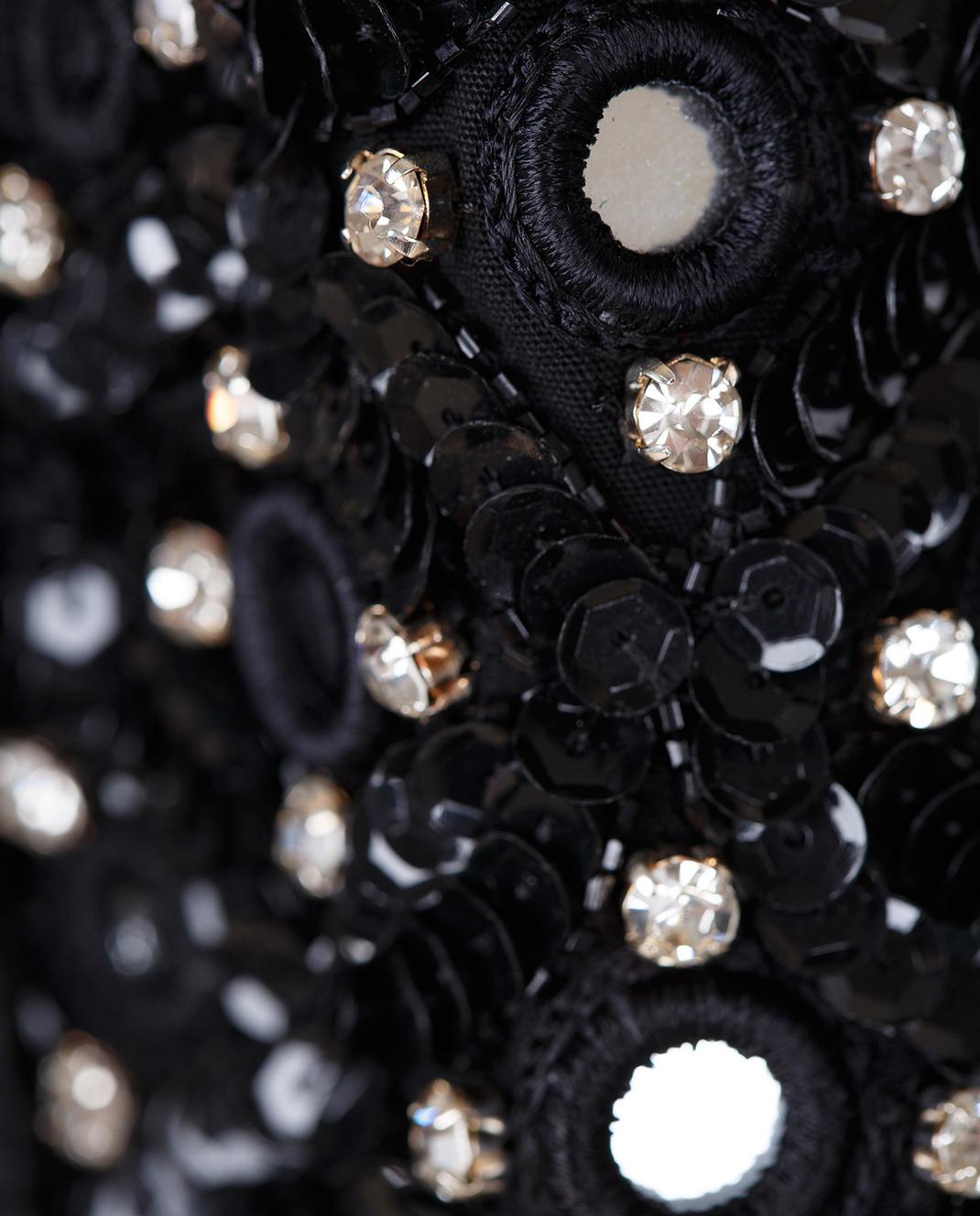 Amen Черная парка с кристаллами ACS17100 изображение 5
