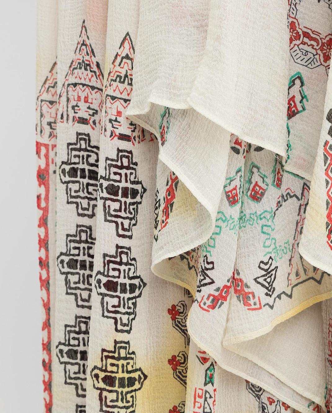 Etro Светло-бежевая юбка из шелка D18711 изображение 5