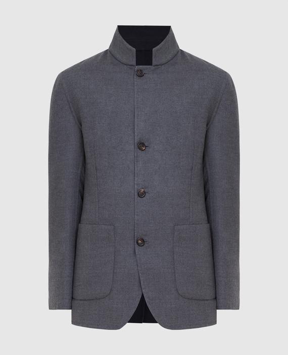 Двухстороннее пальто из кашемира и шелка