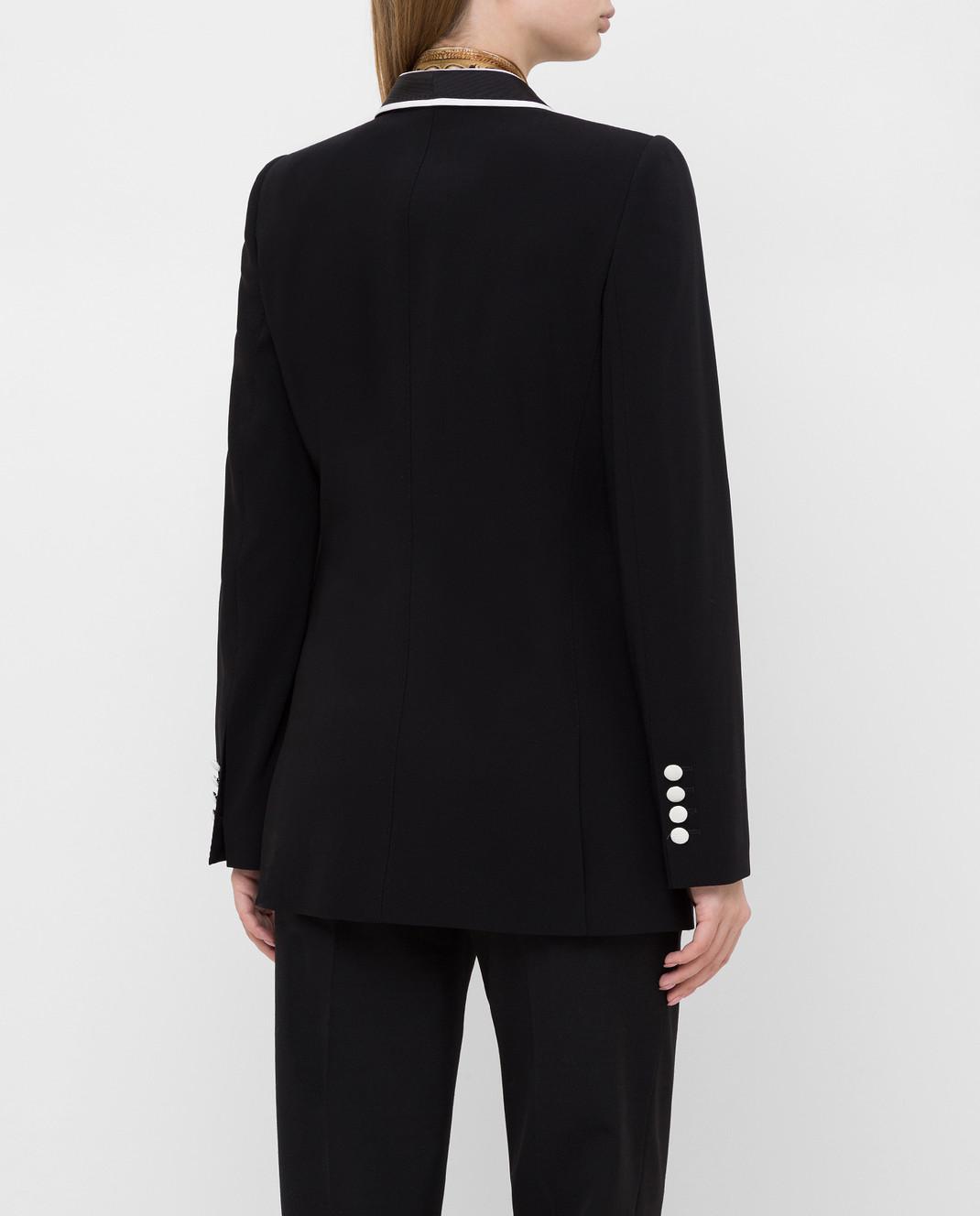 Dolce&Gabbana Черный жакет из шерсти изображение 4