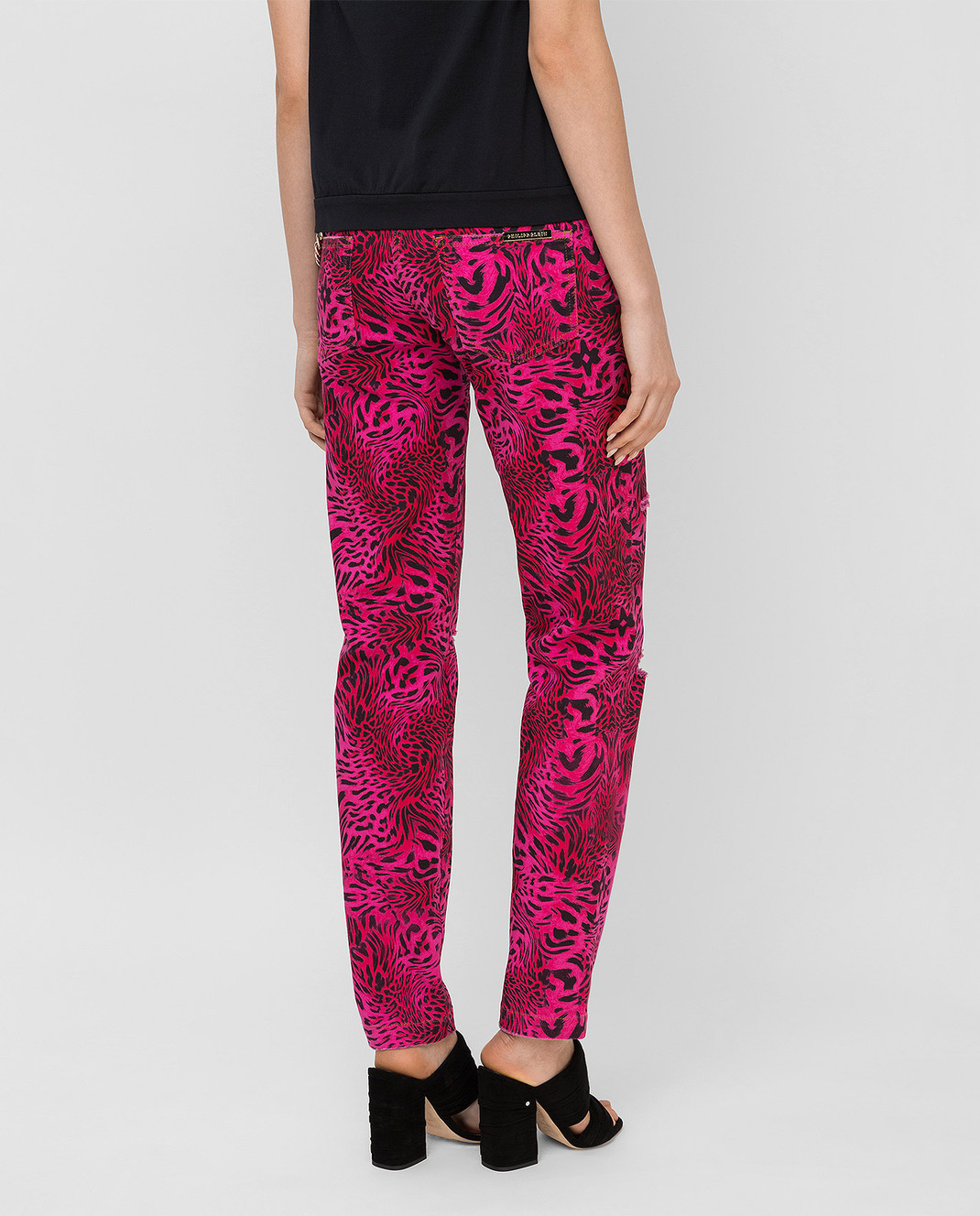 Philipp Plein Розовые джинсы CWDT0208 изображение 4