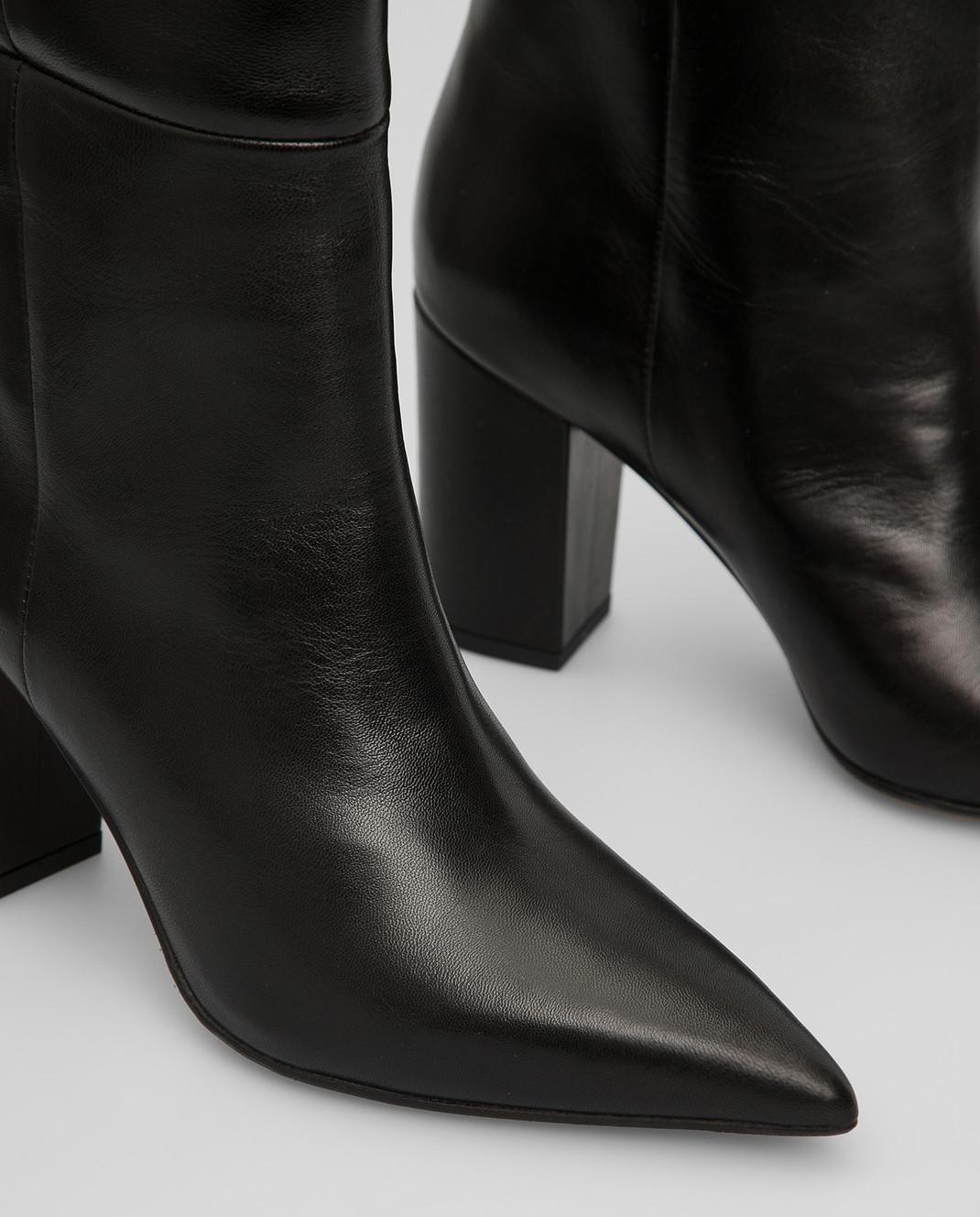 Babe Pay Pls Черные кожаные сапоги изображение 5