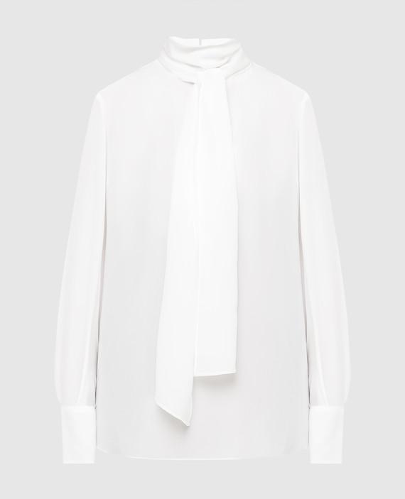Белая блуза из шелка