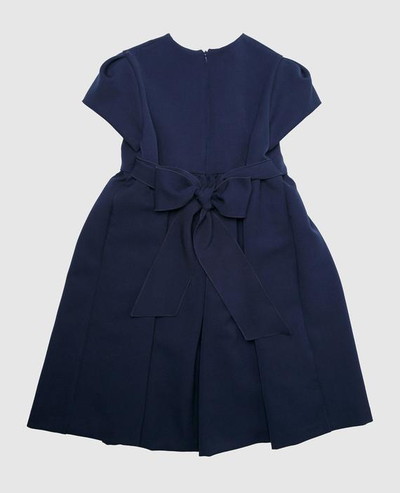 Детское синее платье hover