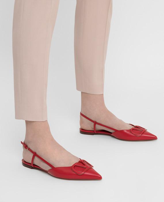 """Красные кожаные балетки """"Vlogo"""" hover"""