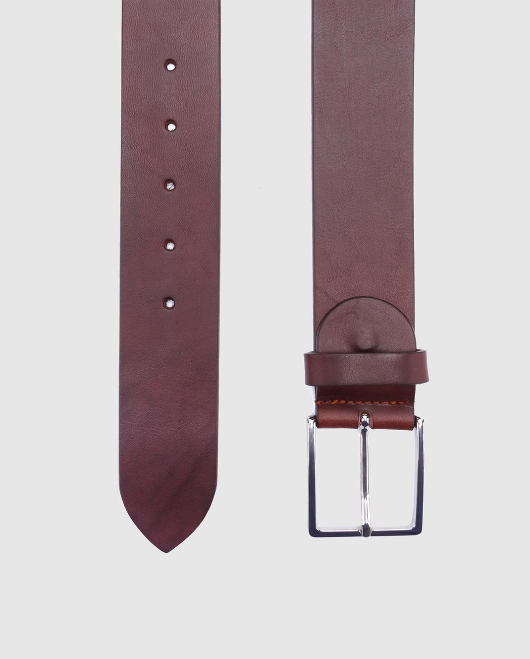 Bochicchio Коричневый кожаный ремень 1011 изображение 2