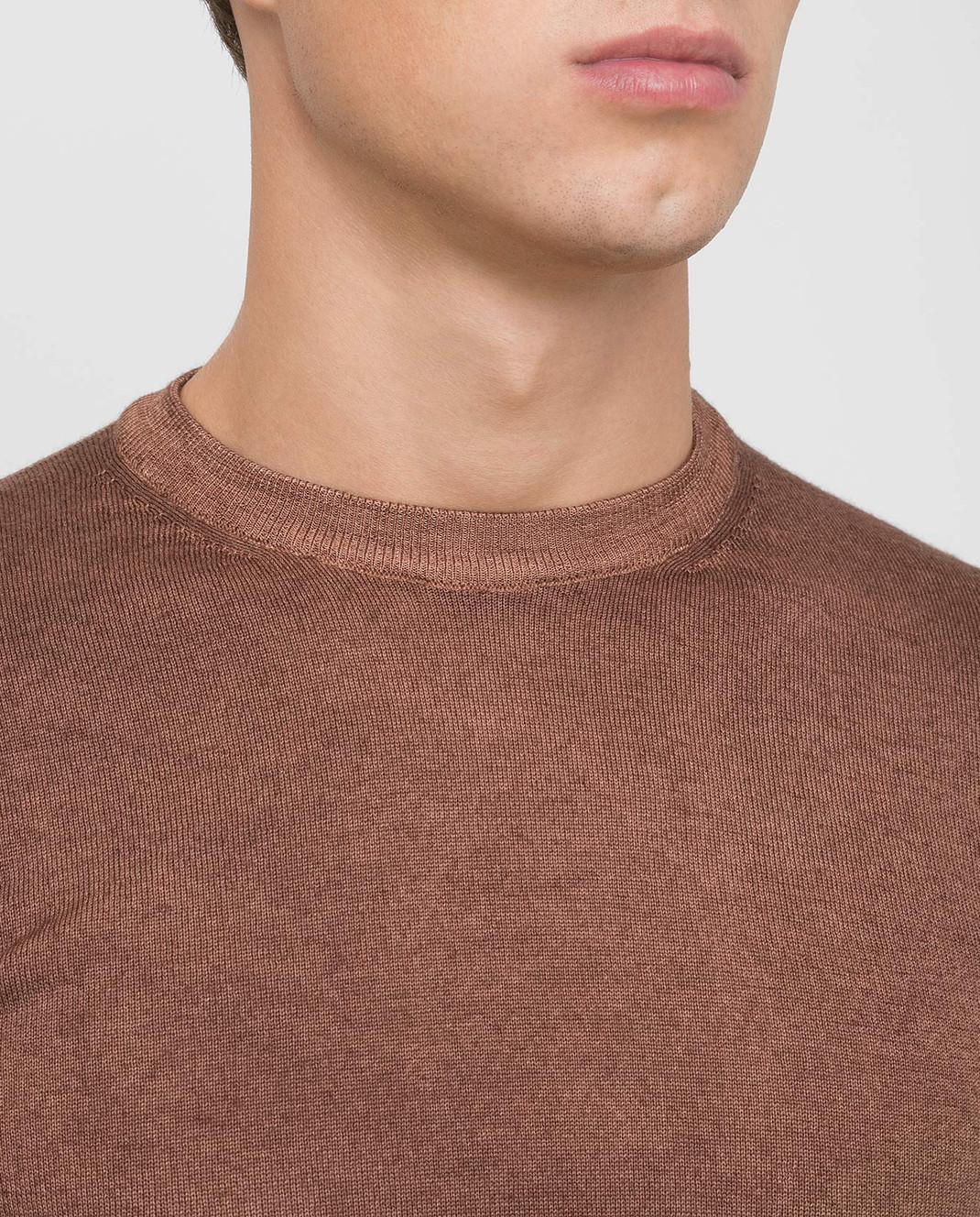 Fradi Коричневый джемпер из шерсти изображение 5