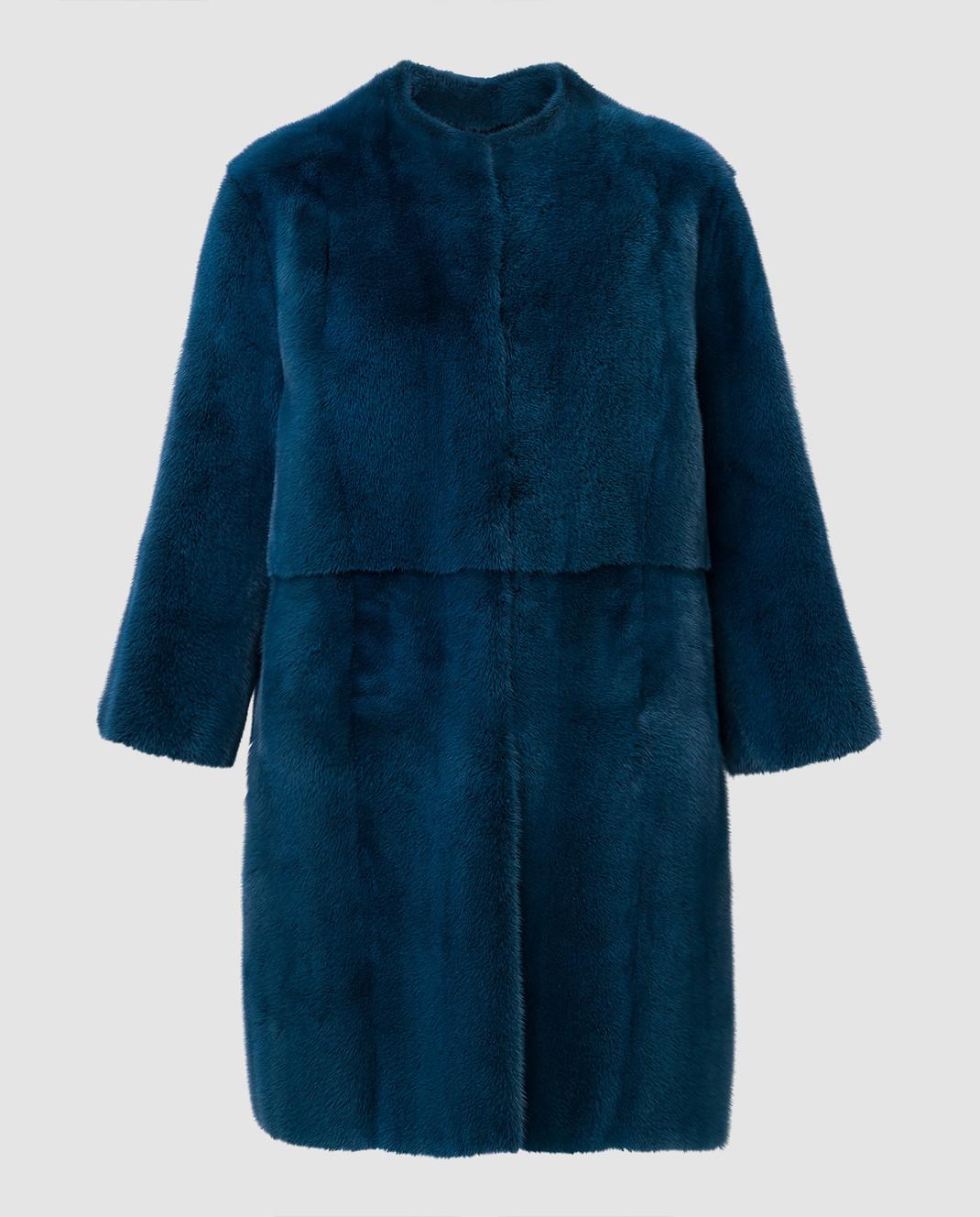 Fabio Gavazzi Синяя шуба из меха норки 9VI000F18FG92PIVR