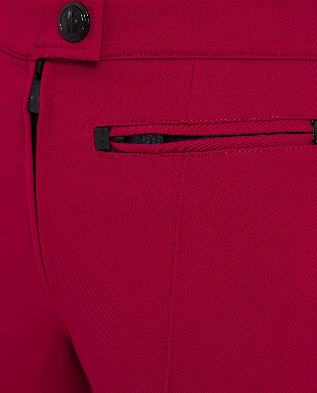 Moncler Grenoble Малиновые лыжные брюки изображение 5